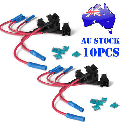 10PCS Mini ACN TAP Add-a-circuit Car Low Profile Blade Style Micro Fuse Holder