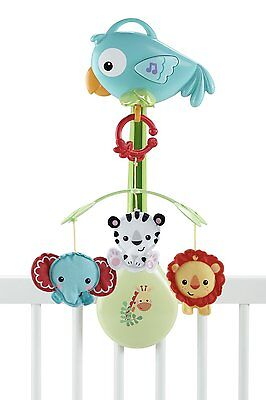 Fisher-Price Baby Rainforest 3-in-1 Musical Mobile for Cot or Pram - New