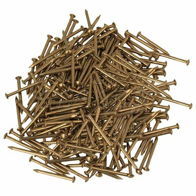 500x  Antique Brass Furniture Pure Copper Miniature Nail Round Head 18mm