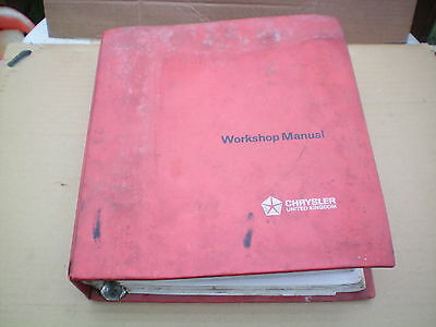 Rootes Chrysler Hillman Hunter Workshop Manual
