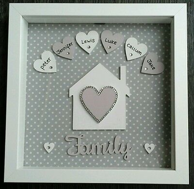 Personalised Family Box Frame Picture