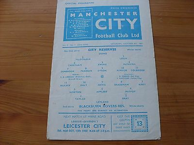 Man City Res v Stoke Res programme dated 6-11-1965   (058)