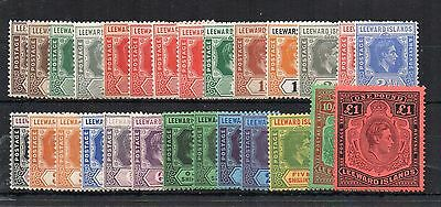 Leeward Islands 1938-51 set to £1  + shades MNH/MLH