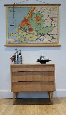 Vintage curved cool wooden retro chest of drawers