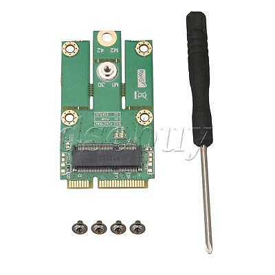 M.2 (NGFF) Key E to mPCIe (PCIe+USB) Converter Adapter Support Full / Half Size