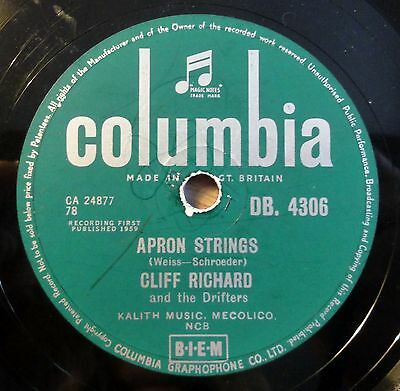 "Cliff Richard - Apron Strings - Living Doll - Columbia - /10"" 78 RPM"
