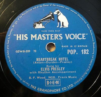 """Elvis Presley - Heartbreak Hotel - I Was The One - His Master´s... /10"""" 78 RPM"""