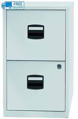 Bisley A4 672x413x400mm Metal Filing Cabinet - Chalk White