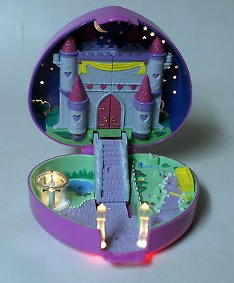 ★★★VINTAGE 1992 POLLY POCKET COEUR lumineux Starlight Castle ★★★