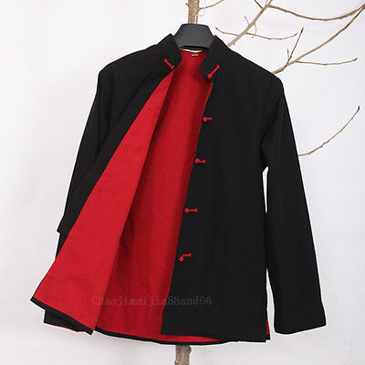 100% Cotton Double thick Kung fu Taichi Wu shu Shaolin MMA Bruce Lee Jacket coat