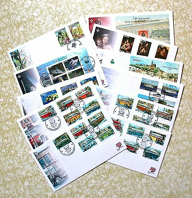 2011 Malta First Day Covers Fdc Full Set Of Seven & Four Buses The End Of An Era