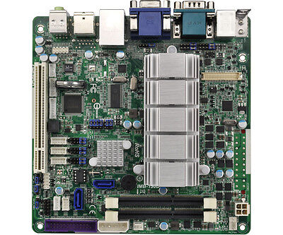 Industrial Mini ITX motherboard with Dual core D2550 CPU, DC input and 1x PCI