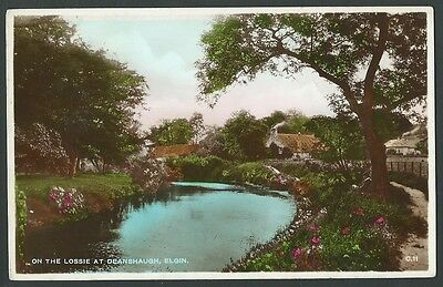 Elgin Moray On The Lossie At Deanshaugh c1930s Excel Real Photo Postcard