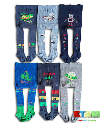 Boys Toddler Cotton ABS Tights Anti slip Socks Pants Warmers  12-18 Months
