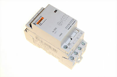 25 Amp 400v Contactor 4 pole normally open coil 220 / 240v 25A Merlin Gerin CT