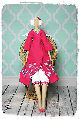 Handmade Tilda style Doll - Angel in pink dress, Decoration, Present, Gift