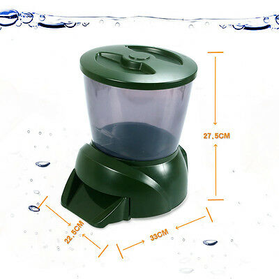 Automatic Fish Pond Food Feeder | Holiday Koi Feed Timer Dispenser