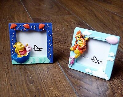 Pair Disney Winnie the Pooh, Tigger, Piglet 3D photo/picture frames