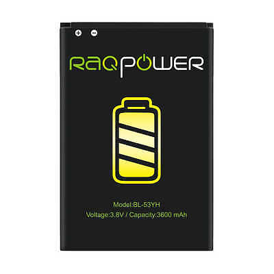RAQPower Li-ion Battery BL-53YH Durable For LG G3 D850 D851 VS985 LS990