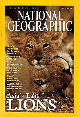 NATIONAL GEOGRAPHIC - 2001 June - Asia's last Lions