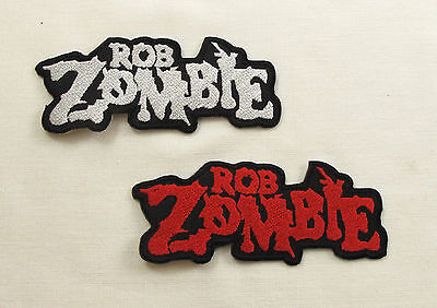 ROB ZOMBIE Iron On/Sew On Patch  RED OR WHITE