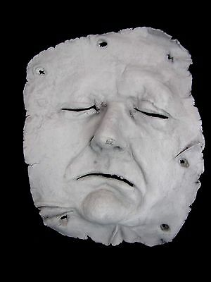 MUMMIFIED FACE SKIN wall hanging  sideshow gaff death blood HANIBAL LECKER