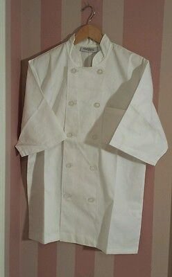 NEW Chef Uniform Coat White Top  Size S Half sleeves