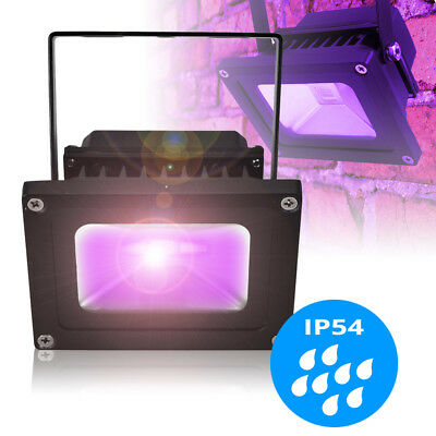 Weather Proof Outdoor UV Ultraviolet Glow Flood Light Lamp Garden Patio IP54