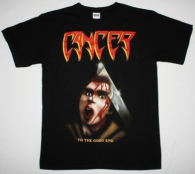 Cancer To The Gory End Disincarnate Obituary Bolt Thrower New Black T-Shirt