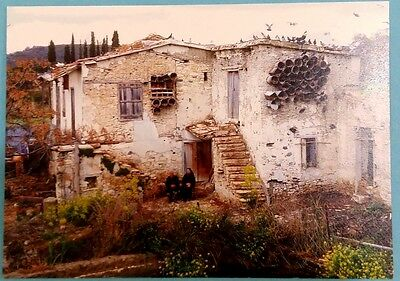Cyprus postcard:The poet Pavlos Liasides and his wife Eleni, from Lysi,Famagusta