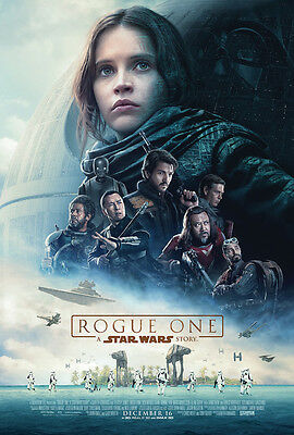 ROGUE ONE A STAR WARS STORY MOVIE POSTER 2 Sided ORIGINAL FINAL NM 27x40