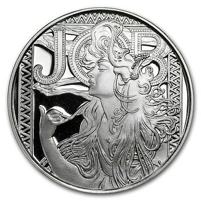 Alphonse Mucha Collection - JOB 1 oz .999 Silver Proof Round USA Made Coin