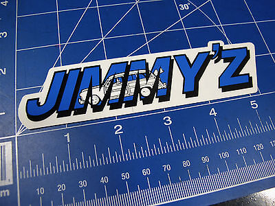 vtg. RARE* 1980's Jimmy'z Surf sticker blue strip