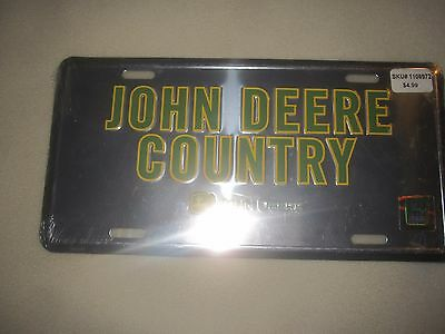 John Deere Country Metal License Plate NIP ~ 1636