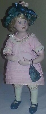 """Vintage 1950's Mary Moline 11"""" Porcelain Norman Rockwell Character Doll """"Amy"""" Ma"""