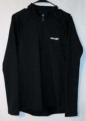 Reebok Play Dry Long Sleeve Black 1/2 Zipper Pullover Shirt Size Youth Large