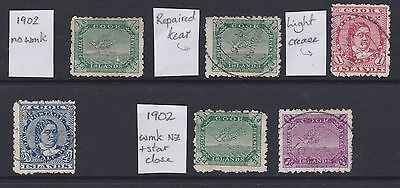 Cook Islands 1902 ~ selection ~ cv£71