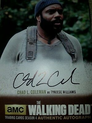 The Walking Dead S4 P1  Auto Autograph Chad Coleman Clc1 Tyreese
