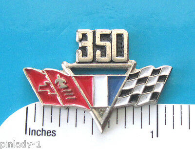 350  CHEVY  flags  engine - hat pin , lapel pin , tie tac  (L) GIFT BOXED