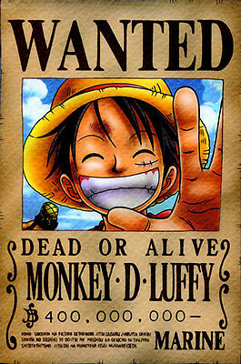 One Piece WANTED Poster (26 x 40 cm) - MONKEY D. LUFFY