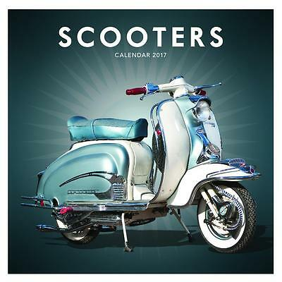 Scooters Lambretta Vespa Uk Square 2017 New Wall Calendar With Free Uk Postage