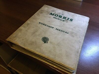 Great Vintage Workshop Manual For The Morris Minor. Have A Look!!!