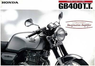 Honda Gb400T.t. Motorcycle Brochure *original*