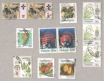 Malaysia Selection of Used Stamps