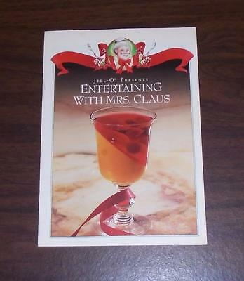"VTG 1970s JELL-O CANADIAN RECIPE BOOKLET ""ENTERTAINING WITH MRS. CLAUS"""