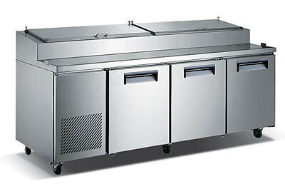 """92"""" Commercialrefrigerated Pizza Prep Table"""