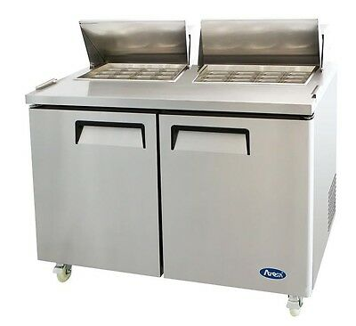 "60"" Commercial MEGA TOP REFRIGERATED SALAD / SANDWICH PREP TABLE - 2 DOORS"