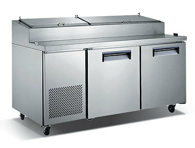 "71"" Commercial Refrigerated Pizza Prep Table"