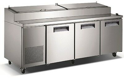 """Commercial refrigerated pizza prep table, 92"""""""