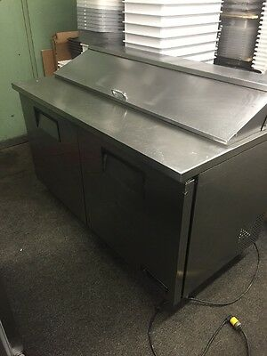 "True TSSU-60-16 Commercial 60"" Sandwich Unit Sandwich Prep Table"